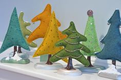 Making Wool Felt Christmas Trees!