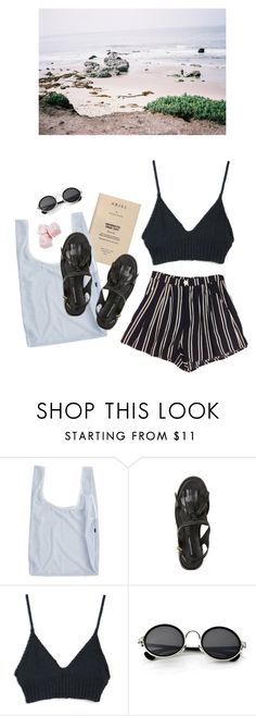 """""""sand"""" by paper-freckles ❤ liked on Polyvore featuring BAGGU and Retrò"""