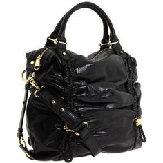 "Badgley Mischka - ""Bella"" black leather bag"