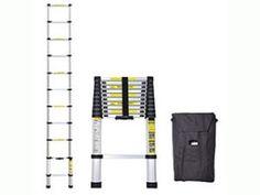 Idealchoiceproduct 10.5 FT Aluminium Telescopic Telescoping Ladder Extension Steps Best Ladder, Telescope