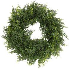 """Gracie Oaks Artificial Cedar 18"""" Wreath"""