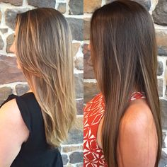 Toned down from blonde balayage  to multidimensional brunette