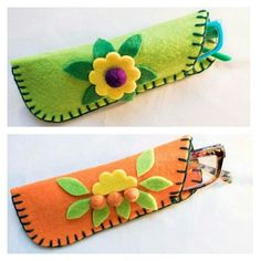ideas for glasses case felt purses crafts crafts crafts bottle crafts crafts Felt Crafts Patterns, Felt Crafts Diy, Felt Diy, Fabric Crafts, Crafts To Make, Sewing Crafts, Sewing Projects, Cork Crafts, Felt Purse