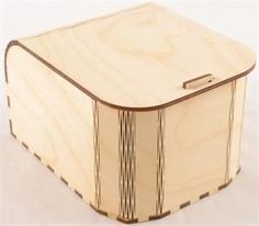 The snap fit wood box is designed, manufactured and assembled in our facility in the USA. Each box is made to order and design changes are simple and fast, enabling us to make you the style of wood b Laser Cut Box, Laser Cutting, Unfinished Wood Boxes, Living Hinge, Woodworking Store, Woodworking Ideas, Teds Woodworking, Woodworking Equipment, Woodworking Machinery