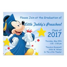 Mickey Mouse | Graduation Card