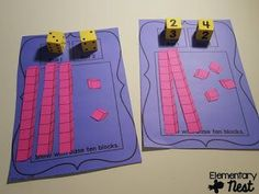 NBT- Place Value- Numbers and Operations in Base Ten Activities and Resources- Math Place Value activities Base Ten Activities, First Grade Activities, Math Activities, Place Value Activities, 1st Grade Math Games, Math Classroom, Kindergarten Math, Teaching Math, Kinesthetic Learning