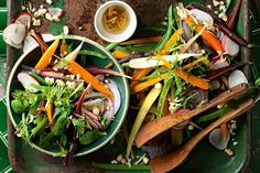 Crunchy, colourful and with lashings of flavour – this spring salad will bring any meal to life. Vegetarian Christmas Recipes, Christmas Salad Recipes, Vegetarian Recipes, Best Salad Recipes, Side Recipes, Light Recipes, Rainbow Salad, Vegetarian Side Dishes, Spring Salad