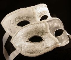 The White Couple Masks by *EffigyMasks  Victorian Mask Antifaces Victorianos