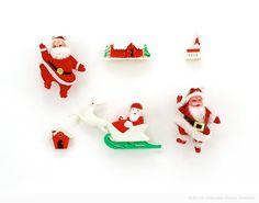 Vintage Santas  by Jennifer Booher