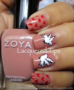 LACQUERED TIPS: Valentine's Day Nails 10