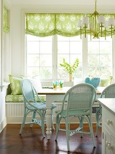 Fresh and bright  Love the color of the curtains