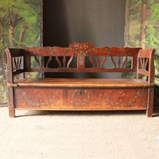 Antique Benches UK - Antique Settles, Pine Benches, Rustic Benches, Painted Benches and Settles Decor, Rustic Art, Wooden Sofa, Rustic Bench, Painted Boxes, Painted Chairs, Vintage Decor, Bench, Painted Benches