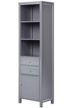 Love this linen Cabinet, 69.25Hx19.625W, GRAY: Bedding & Bath