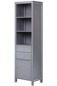 Love this linen Cabinet, 69.25Hx19.625W, GRAY: Bedding & Bath