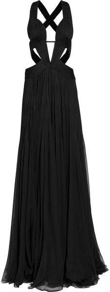 ROBERTO CAVALLI-Cutout Silkchiffon Gown. Looks like the cotillion gown from gossip girl!