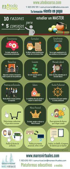 10 razones + 5 consejos para estudiar un máster #infografia