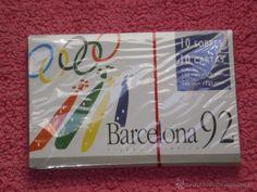 LOTE DE 10 SOBRES + 10 CARTAS , NUEVOS SIN USO , OLIMPIADAS DE BARCELONA 92 .