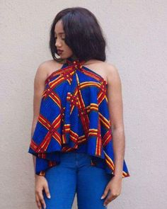 Collection of the most beautiful and stylish ankara peplum tops of 2018 every lady must have. See these latest stylish ankara peplum tops that'll make you stun African Tops, African Dresses For Women, African Print Dresses, African Attire, African Wear, African Fashion Dresses, African Women, African Beauty, African Prints