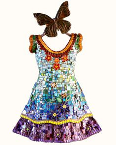 "Susan Wechsler ~ ""Cathedral"" (2013) mosaic memory dress 26 x 17 x 4 in.via mosaicsbysusan.com 