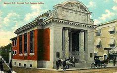 Newport Rhode Island RI 1910 Newport Trust Company Antique Vintage Postcard