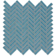 Chelsea Sea Ceramic Mosaic Scale Indoor/Outdoor Thinset Mortar Wall Tile (Common: 12-In x 12-In; Actual: 11-in x 11-in)