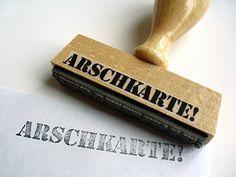 ARSCHKARTE! origineller Stempel von chinguri auf DaWanda.com