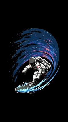 iphone wallpaper space Astronaut Surfing in Space iPhone Wallpaper<br> Space Iphone Wallpaper, Wallpaper World, Dark Wallpaper, Painting Wallpaper, Galaxy Wallpaper, Surfing Wallpaper, Wallpaper Wallpapers, Iphone Wallpapers, Astronaut Wallpaper