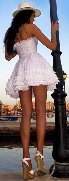 #summer #flawless #outfitideas |  Glam Little White Dress