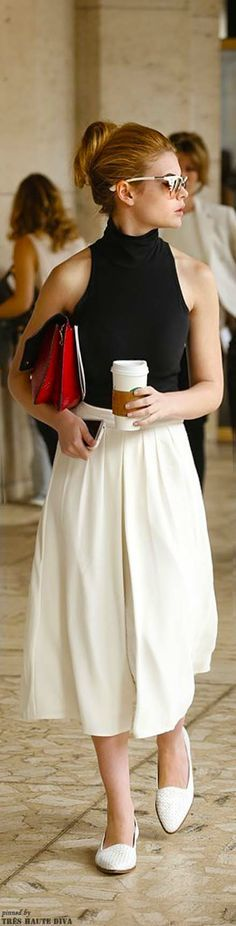 Even though the skirt is full, the whole outfit still reads quite DC New York Fashion Week S/S 2014 C