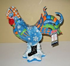 Rear Poultry in Motion Sharon Neuhaus Westland Rooster Figurine Cold Chicken  #PoultryinMotion