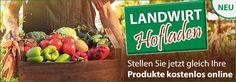 LANDWIRT Hofladens: Tragt eure Produkte jetzt kostenlos im LANDWIRT Hofladen ein, um diese direkt ab Hof zu bewerben! Cereal Recipes, Foods, Farm Shop, Products