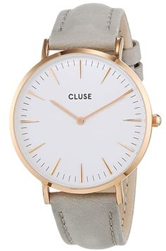 Cluse La Boheme Women's Watch Rose Gold-Plated White / Grey Fossil, Marble Watch, Clusia, Mum Birthday Gift, Moda Paris, Stylish Watches, Unisex, Watch Bands, Bracelets