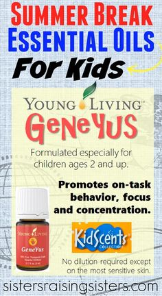 Young Livng Essential Oils GeneYus oil blend is part of the KidScents Collection made especially for children. It helps promote on-task behavior, focus and concentration.
