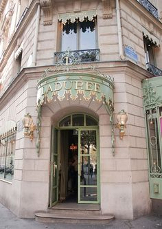 Laduree, Paris - I cannot wait to visit you! Everything from their label, packaging, shop fitting, amazing cookbook - and who can forget their macaroons - is immaculate!