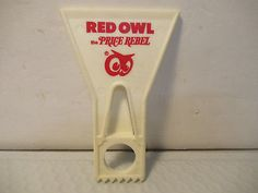 RED OWL GROCERY Store Vintage Plastic Ice Scrapper Windshield Advertising Piece - $10.95 | PicClick Red Owl, Grocery Store, Advertising, Ice, Plastic, Vintage, Ice Cream, Vintage Comics