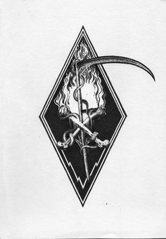 A short time ago! Alternative version of the emblem for Clandestine Faith. Tattoo Sketches, Tattoo Drawings, Body Art Tattoos, Cool Tattoos, Occult Art, Occult Tattoo, Dark Art Tattoo, Arte Obscura, Desenho Tattoo