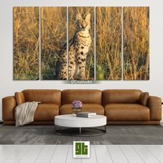 Serval Wild Cat, Multi Panel Framed Canvas Set, African Cat in Savannah Home Wall Art, Wild Forest Print Decor, Animal Cat Decoration Gift by GTCreativeArt on Etsy Bird Wall Art, Home Wall Art, African Cats, Wild Forest, Serval, Cat Decor, Framed Canvas, Outdoor Furniture, Outdoor Decor