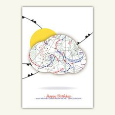 By Decade Happy Birthday Weather Map Card - 2010s http://www.birthdayweather.co.uk/