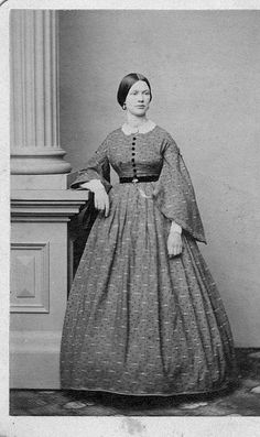 American Civil War Dress - What a gorgeous dress. I love how beautiful the women looked in the Civil War era.