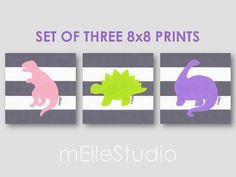 Baby Girl Dinosaur Girls Dinosaur Art Girls by mElleStudio on Etsy, $51.00