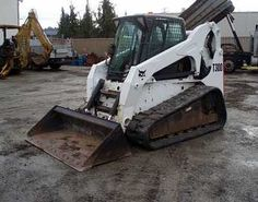 "2007 Bobcat T300; $26,500.00 Clean, well-maintained, and ready to be put to work! Has cab w/ heater and air conditioning, ACS (2-way) controls, Bobtach hydraulic coupler, 72"" bucket, standard auxiliary hydraulics, near new tracks, 2,493 hours."