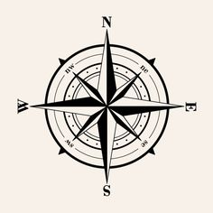 Old Fashioned Compass Wall Decal.