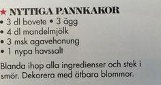 Pannkakor nyttiga