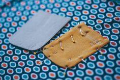 Runde aufgesetzte Tasche DIY Tutorial