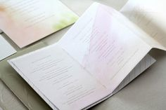 Cermony Programs Oh So Beautiful Paper: Elias + Nancy's Watercolor Letterpress Wedding Invitations by Oh Happy Day