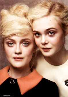 Dakota Fanning & Elle Fanning What there sisters! Pretty People, Beautiful People, Beautiful Women, Dakota Fanning Y Elle, Ellie Fanning, Fanning Sisters, Famous Faces, Belle Photo, Pretty Face