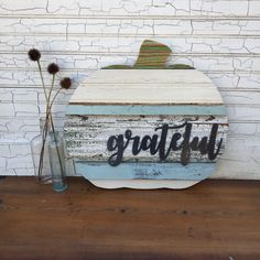A personal favorite from my Etsy shop https://www.etsy.com/listing/552959399/reclaimed-wood-pumpkin-fall-grateful