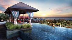gazébo et cabane de piscine design en bois de style Bali