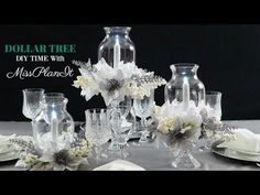 Do you love the Dollar Tree? Well if you are an avid DIYer like me, you probably already know that the Dollar Tree is your go to place for all your DIY centerpiece projects Tree Wedding Centerpieces, Winter Centerpieces, Centerpiece Ideas, Wedding Decorations, Table Decorations, Dollar Tree Decor, Dollar Tree Crafts, Dollar Tree Christmas, Christmas Diy