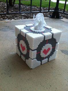Custom 3D Companion Cube Tissue Box Holder by SDKD on Etsy, $48.00